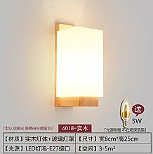 MJSM Light Wandleuchte Wandleuchte aus Holz