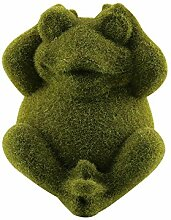 MJTP Frosch Harz Ornamente Beflockende Skulptur