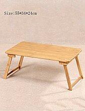 MJY Bambusbett Mit Laptop Desk Faul Tisch