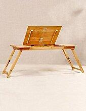 MJY Bambusbett Mit Laptop Desk Kann Faule Table