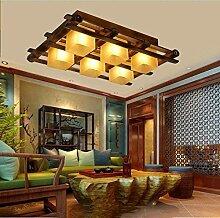 MJY Massive Bambus Retro Lampe der Decke Decke