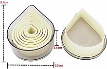 MJY Nylon Ausstecher Set Kunststoff Plätzchenform