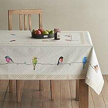 MJY Tischdecken, Birdies on Wire Cotton Tischdecke