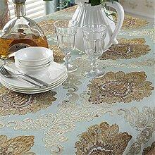 MJY Tischdecken, Blumen-Rechteck-Tischdecke mit
