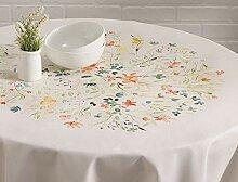 MJY Tischdecken, Colmar Cotton Tischdecke 63 Zoll