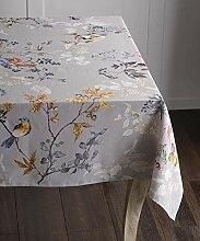 MJY Tischdecken, Cotton Grey Tischdecke 54 Zoll