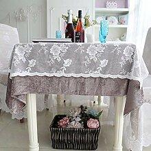 MJY Tischdecken, Floral Luxury Romantic Lace