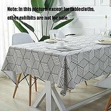 MJY Tischdecken, Rhombus Tischdecke Black and