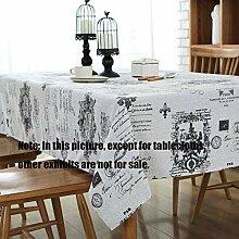 MJY Tischdecken, Tischdecke aus Baumwolle und