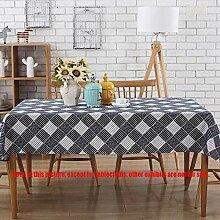 MJY Tischdecken, Tischdecke, blau karierte