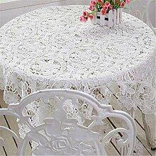 MJY Tischdecken, weiße, hohle Tischdecke mit
