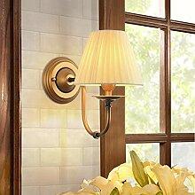 MJY Wand der Nacht in Stoff, Retro Lampe Wandlampe