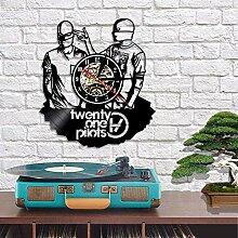 MJY Wanduhr Vinylaufzeichnung Einzigartige Wanduhr