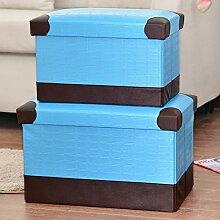 mk-folding Creative Home Täglich Aufbewahrungsbox Fuß, Hocker Sundry Waren Hocker mit Aufbewahrung, 40*25*25cm