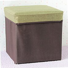 mk-folding Haushalt Aufbewahrung Hocker nicht–gewebt kaffee Baumwolle, quadratisch, Kleidung Einlasskontrolle Hocker