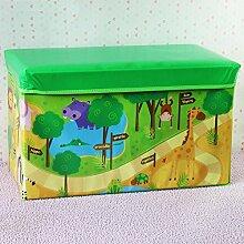 mk-oversized Animal Park Toys Hocker faltbar Cartoon Kinder Kleidung Hocker mit Aufbewahrung grün