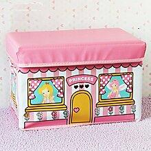 mk-pvc Pink Eis Warenkorb Spielzeug Hocker zusammenklappbar Bus Kinder Kleidung Hocker mit Aufbewahrung, 40*25*25cm