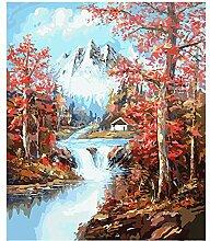 MKGLU Landschaft Wald Bild Gemälde Nach Zahlen