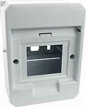 MKK - 17930-004 - Aufputz Unterputz Sicherungskasten Verteiler Kleinverteiler Sicherung Fenster bis 4 Sicherungsautomaten Aufputz ohne Fenster