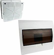 MKK - 17930-007 - Aufputz Unterputz Sicherungskasten Verteiler Kleinverteiler Sicherung Fenster bis 9 Sicherungsautomaten Unterputz + Fenster