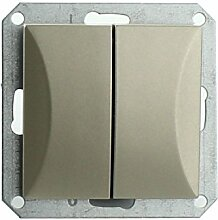 MKK - 18067-014 - Steckdose Lichtschalter Taster ohne Rahmen Unterrputz Jalousieschalter weiß sand Serienwechselschalter Sand