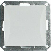 MKK - 18067-021 - Steckdose Lichtschalter Taster ohne Rahmen Unterrputz Jalousieschalter weiß sand Taster: Türöffner Weiß
