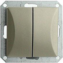 MKK - 18067-024 - Steckdose Lichtschalter Taster ohne Rahmen Unterrputz Jalousieschalter weiß sand Taster: Serientaster Sand