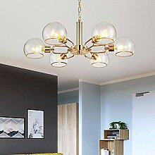 MKKM Kronleuchter, E14 Goldenes Wohnzimmer