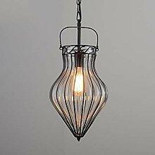 MKKM Vintage Industrie Glas Lampenschirm