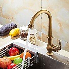 Mkkwp Antike Messing Küchenarmatur Wasserhahn