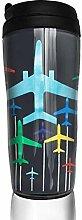 MKLQ Chromatic Airplane Kaffeetasse Becher Tassen