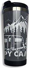 MKLQ Happy Camper Kaffeetasse Becher Tassen