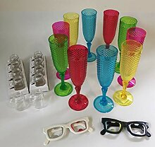 MKLV 10 Stück Sektgläser Sektglas Partyglas