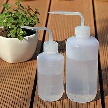 Mkono 2Stück Pflanzen Wasser Blume Flasche Kunststoff Bend Mund Gießkannen Squeeze Flasche–250ml und 500ml