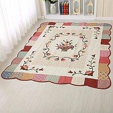 MKXI® Baumwolle Weich Kinderteppich Spielteppich, Patchwork Teppich Rutschfest Spielmatte für Kinder und Babys Schlafzimmer Grösse: 160x210c Rot-Korb