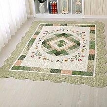 MKXI® Kinder Teppich Spielteppich Patchwork Teppich, Baumwolle Weiche Teppich für Kinderzimmer Wohnzimmer Schlafzimmer Grösse: 160x210cm Grün-Geometrisch