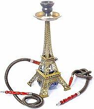 Mkxiaowei Metall Paris Tower Shisha Pfeife Glas