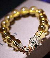 Mkxiaowei Natürliche Gelben Kristall Armband