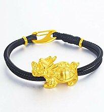 Mkxiaowei Pure Gold Messing Vergoldet Schmuck