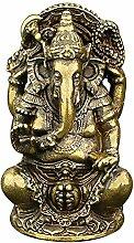 MKYXLN Massivem Kupfer Ganesha Buddha Figurine