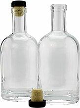 ML Schnapsflaschen (2er Pack); Glas ist klar