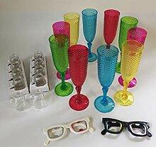 MLGV 10 Sektgläser aus Kunststoff Sektflöten