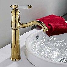 MLMQ Golden Bad Wasserhahn, Modern Poliert