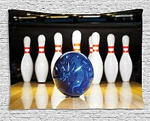 MLNHY Bowling Party Decorations Tapestry, Blue