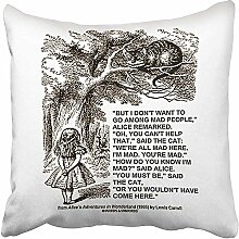MLNHY Pillowcase,Wonderland Dont Want to Go Among
