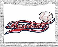 MLNHY Sports Decor Tapestry, Baseball Ball