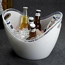 MLXG Acryl Eisbehälter Mit eiszange, Transparent