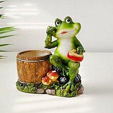 Mlzaq Garten Ornamente Idylle Kreative Frosch