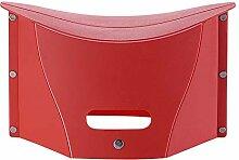 MM&KK Rot Kunststoff Outdoor Portable Klappstuhl