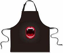 MMCP Küchenschürze, rote Lippen Schürze Unisex